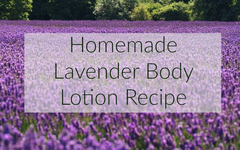 homemade lavender body lotion