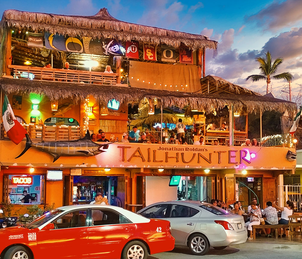 Tailhunter Restaurant - Good Company, Fun Times, Great Meals, and Spectacular Sunsets ...Located on the Malecon in La Paz, Baja Sur