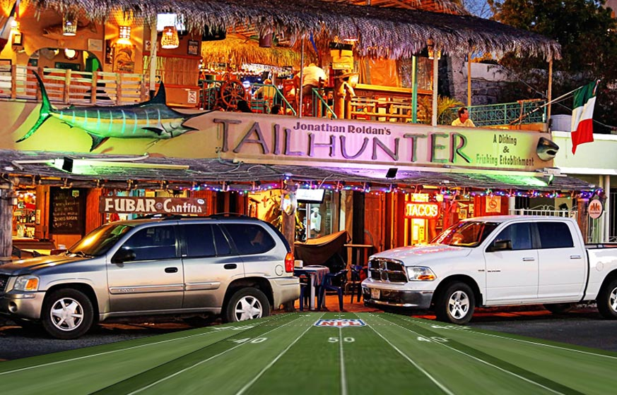 Sports in La Paz at the Tailhunter Restaurant