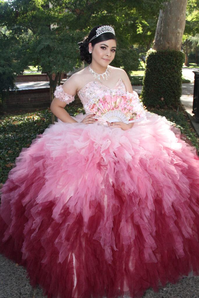 Quinceanera RedPink Dress