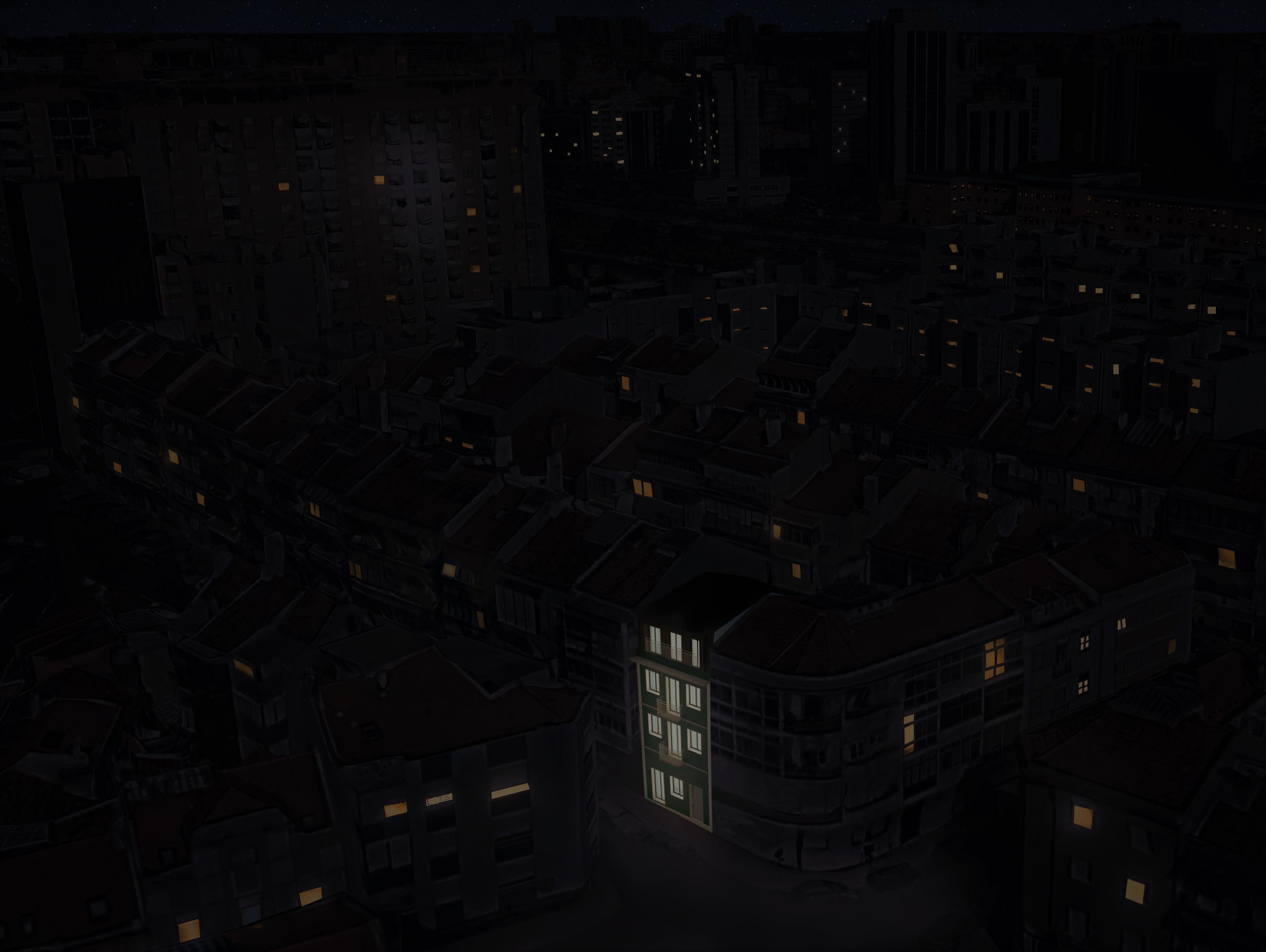 Simulação 3D do Edifício Carlos dos Reis