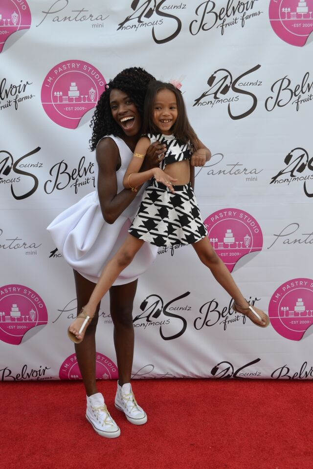 Andrea and one of her happy models at the Pantora Mini Grand Opening.