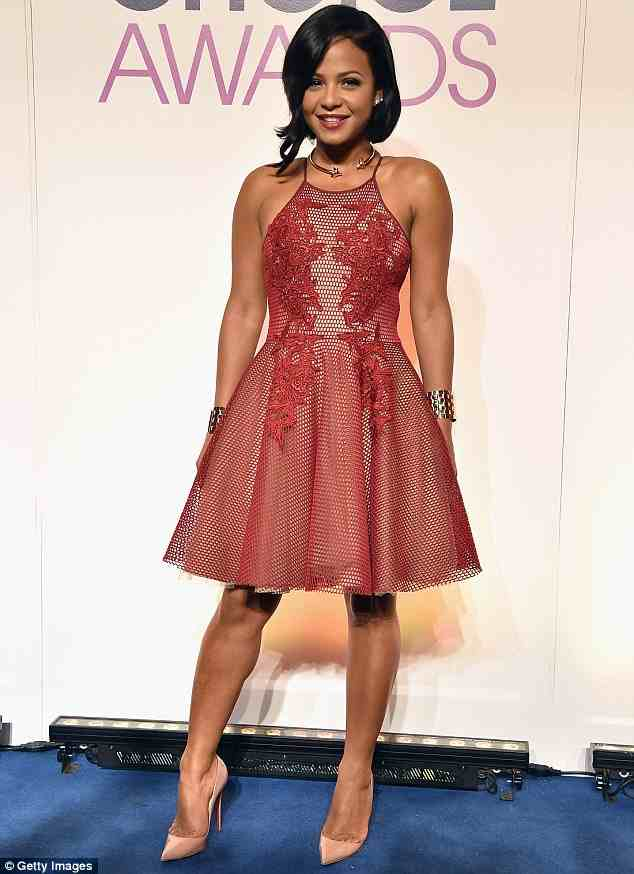 Did Christina work this little red dress at the 2015 People's Choice Awards?