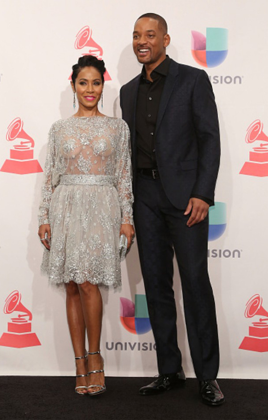 A Couple That Slays Together: Jada + Will Smith at the 2015 Latin Grammy Awards.