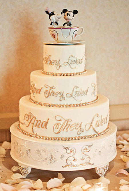Add a little magic to your wedding day with a Disney themed cake!
