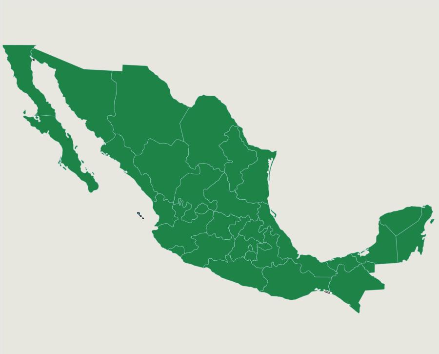Nuestras Ubicaciones en Mexico