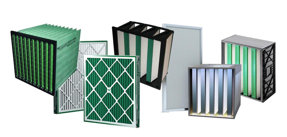 Filtros de aire para ventilacion general HVAC y HEPA