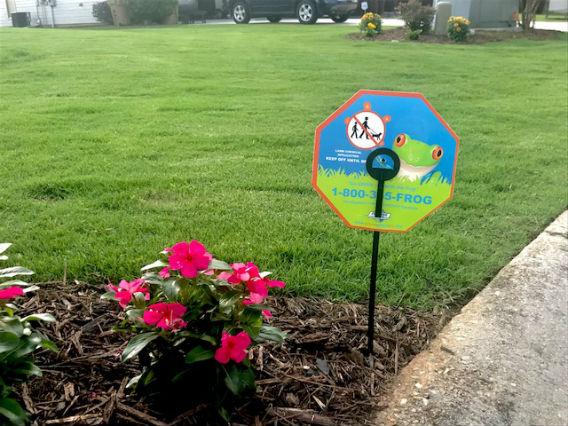 future services lawn care sign