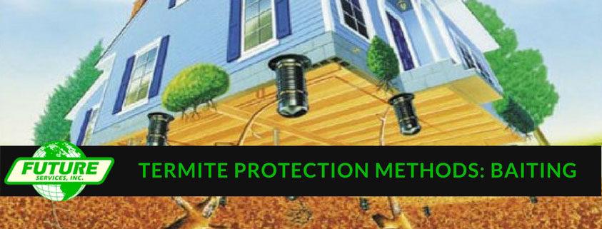 Termite Protection Methods - Baiting illustration
