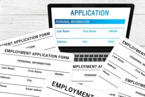 job application, not the past, not the rearview mirror