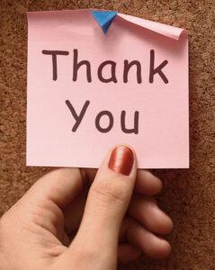 thank you, testimonials