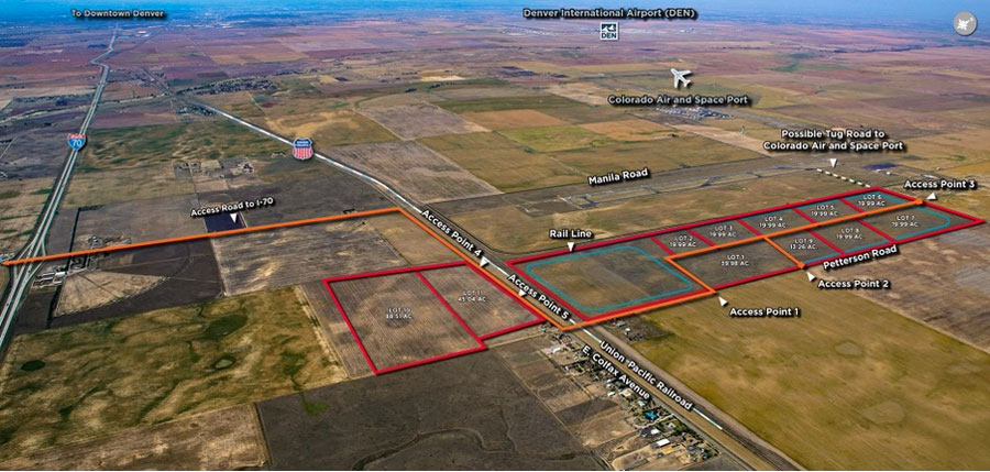 Rocky Mountain Industrials has proposed a 600-acre industrial park in Adams County, next to the Colorado Air and Space Port. Image provided to the Denver Post by Rocky Mountain Industrials.