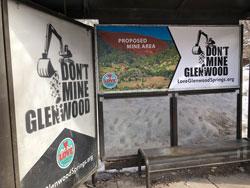 Advertising on RFTA bus shelter