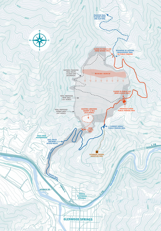 Transfer Trail mapa de viaje