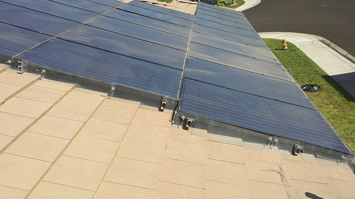 Solar Panels screened off