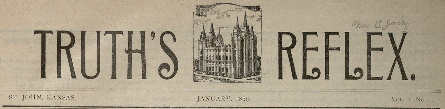 Header for the Truth's Reflex, newspaper from the Southwestern States Mission