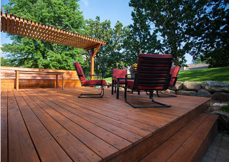 wood patio deck