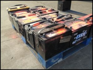 Rockingham Scrap lead acid batteries