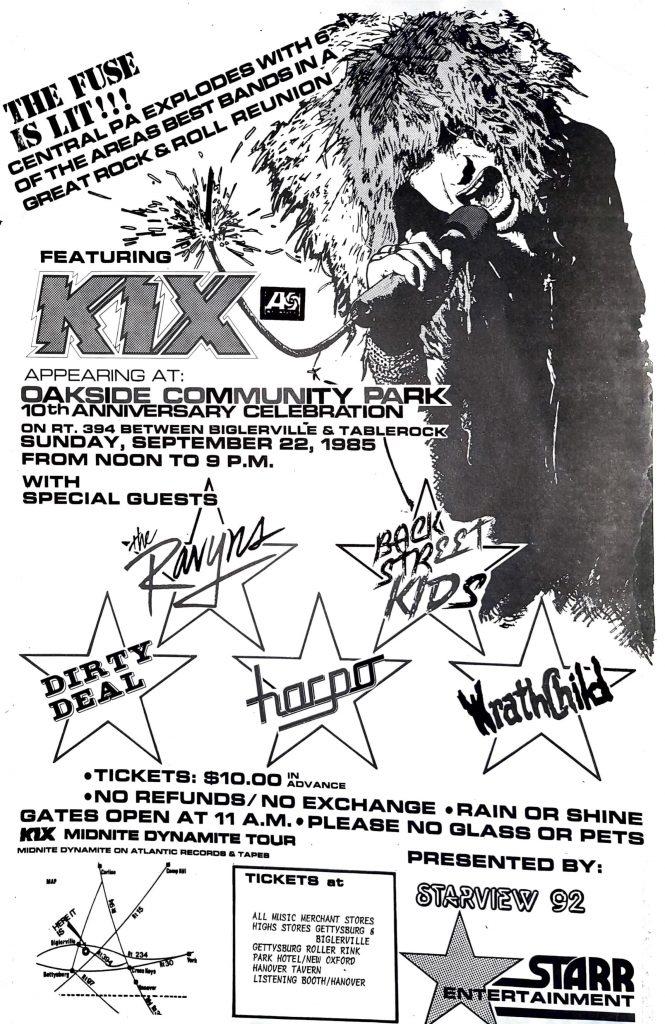 Concert before LA Trip 1985
