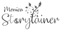 Monica Storytainer Logo Black and White