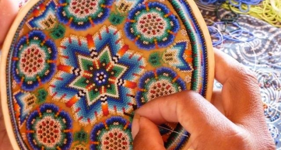 Indian Prayer bowl – beading