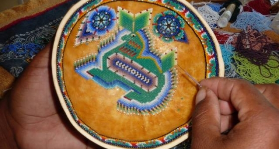 Indian Prayer bowl – handbeading
