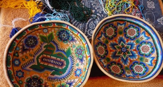Indian beaded prayer bowls