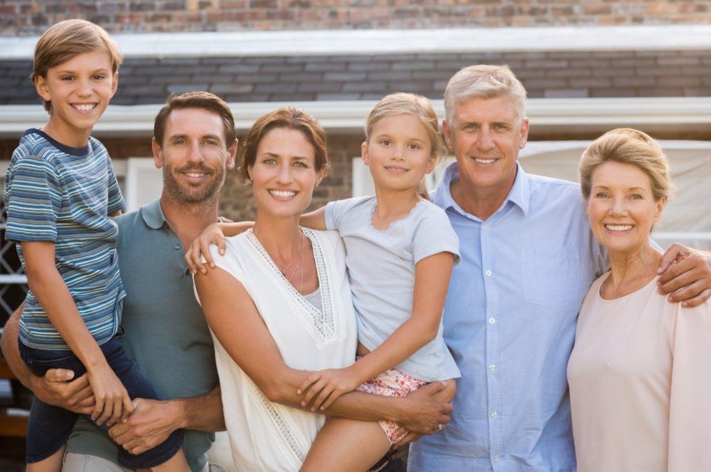 Full family portrait