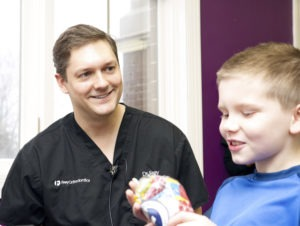 Dr Frey with patient