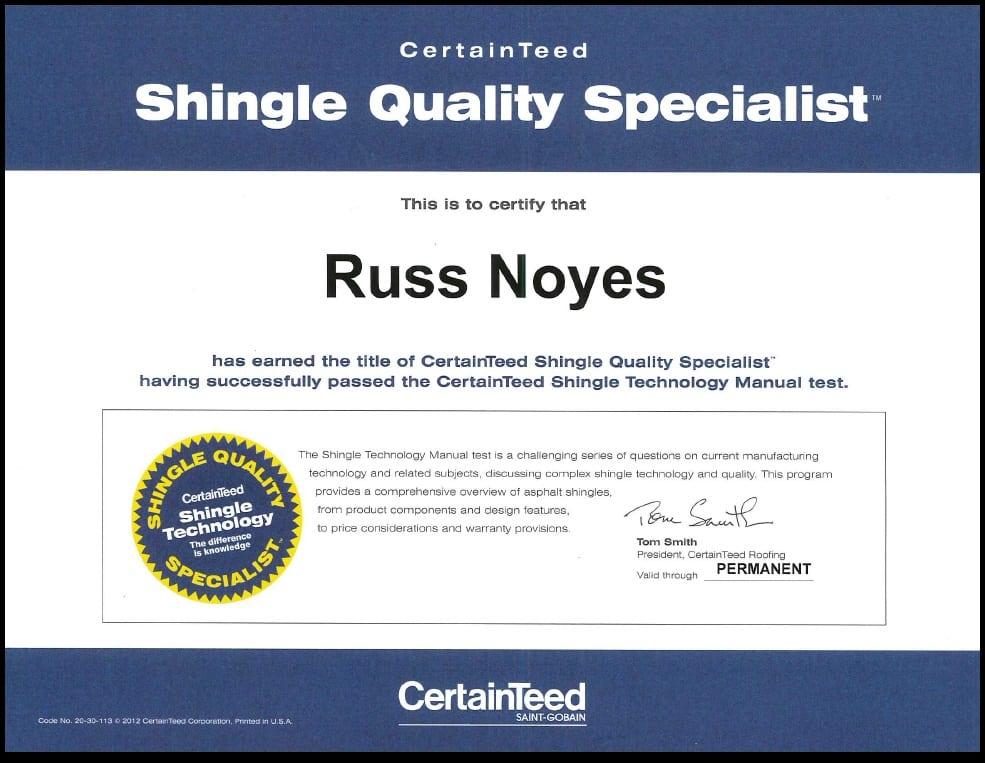 Certainteed Shingle Expert