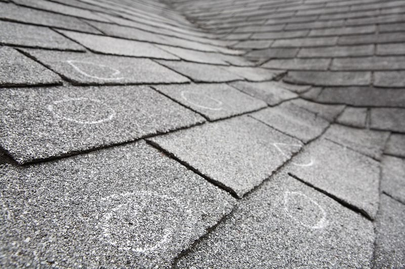 storm damage roof repair from hail