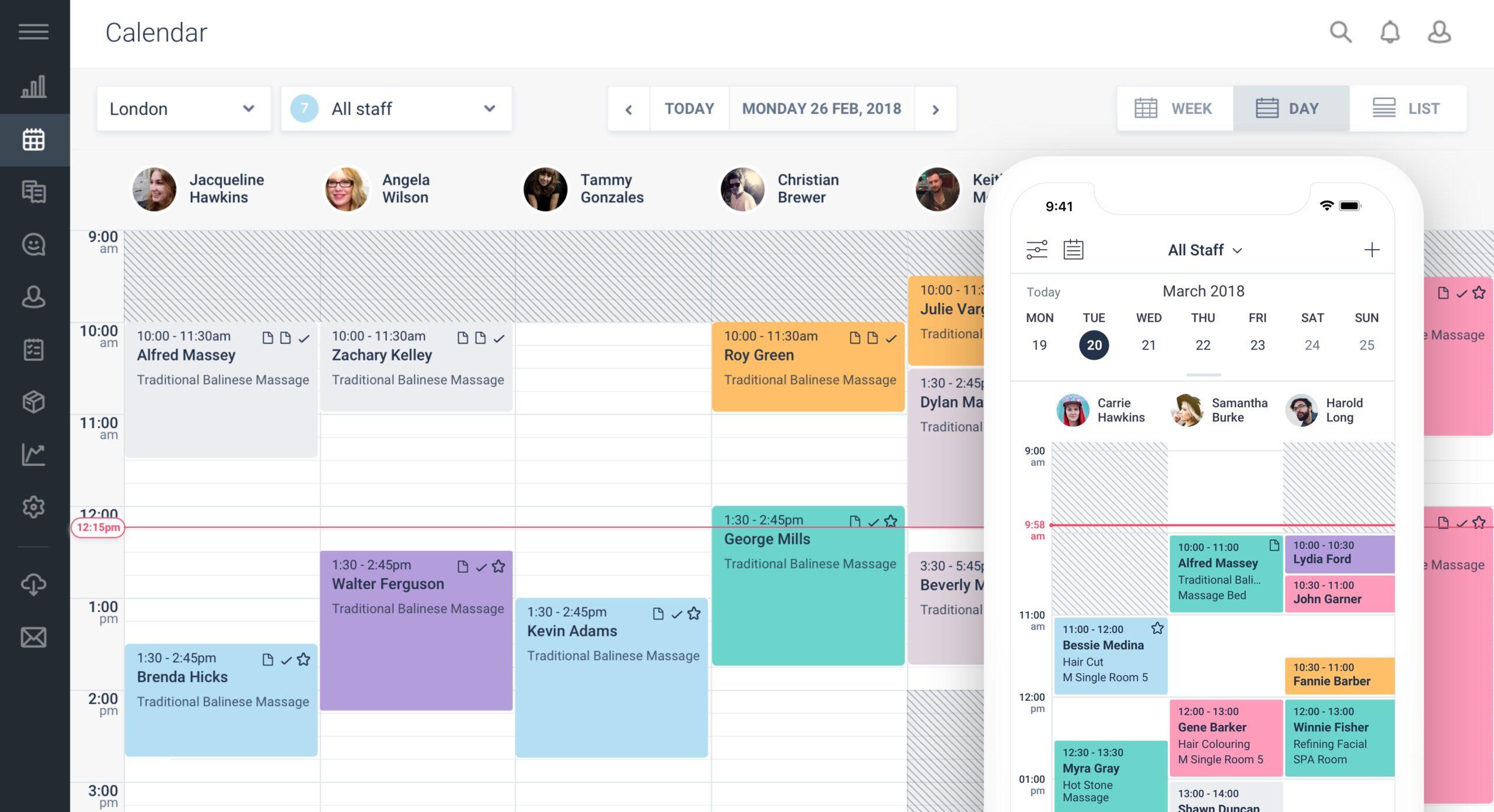 fresha calendar dashboard