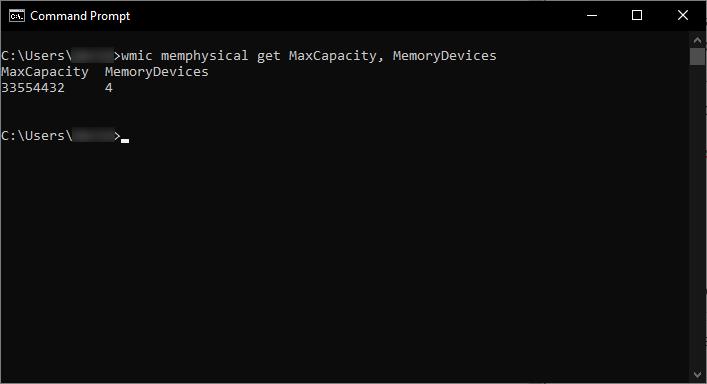 find maximum ram capacity windows