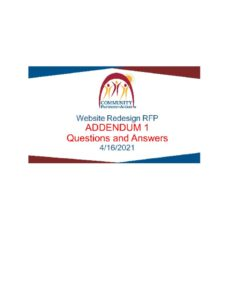 thumbnail of CPA – Website Redesign RFP Addendum – Q and A