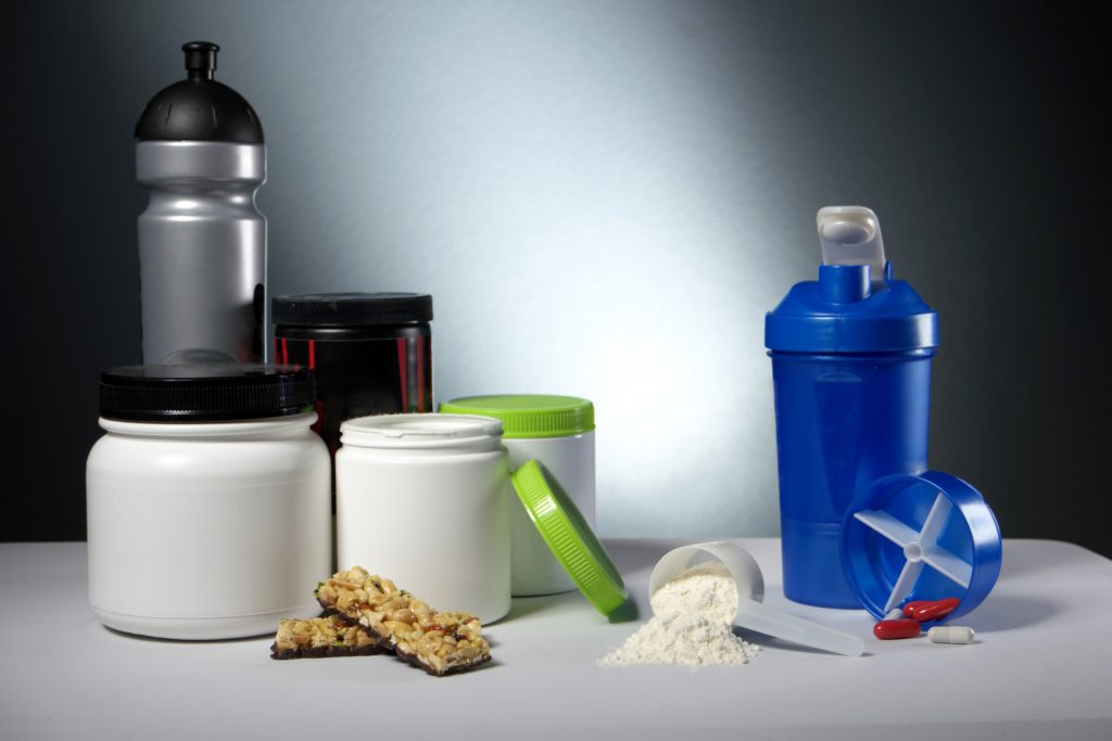 Workout Sport Nutrition Supplement containers