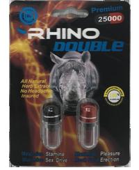 Rhino Double 25000 Male Enhancement 2ct Pill