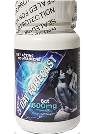 5 Day Forecast 1600mg Male Enhancement 6ct bottle