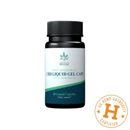 Therapeutic Releaf CBD Liquid Gel Capsules 25mg 60ct