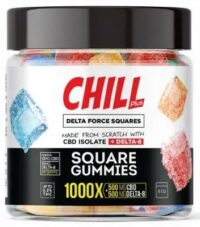 Chill Plus Delta Force Squares Gummies - 1000X
