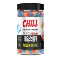 Chill Plus Delta Force Squares Gummies (Delta 8 THC) 4000X