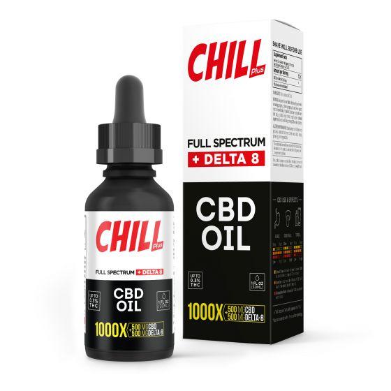Chill Plus Full Spectrum Delta-8 THC CBD Oil