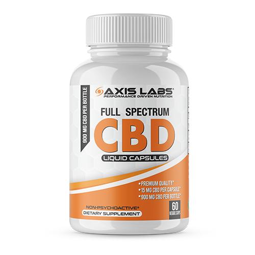 Axis Labs CBD Liquid Caps 60ct,