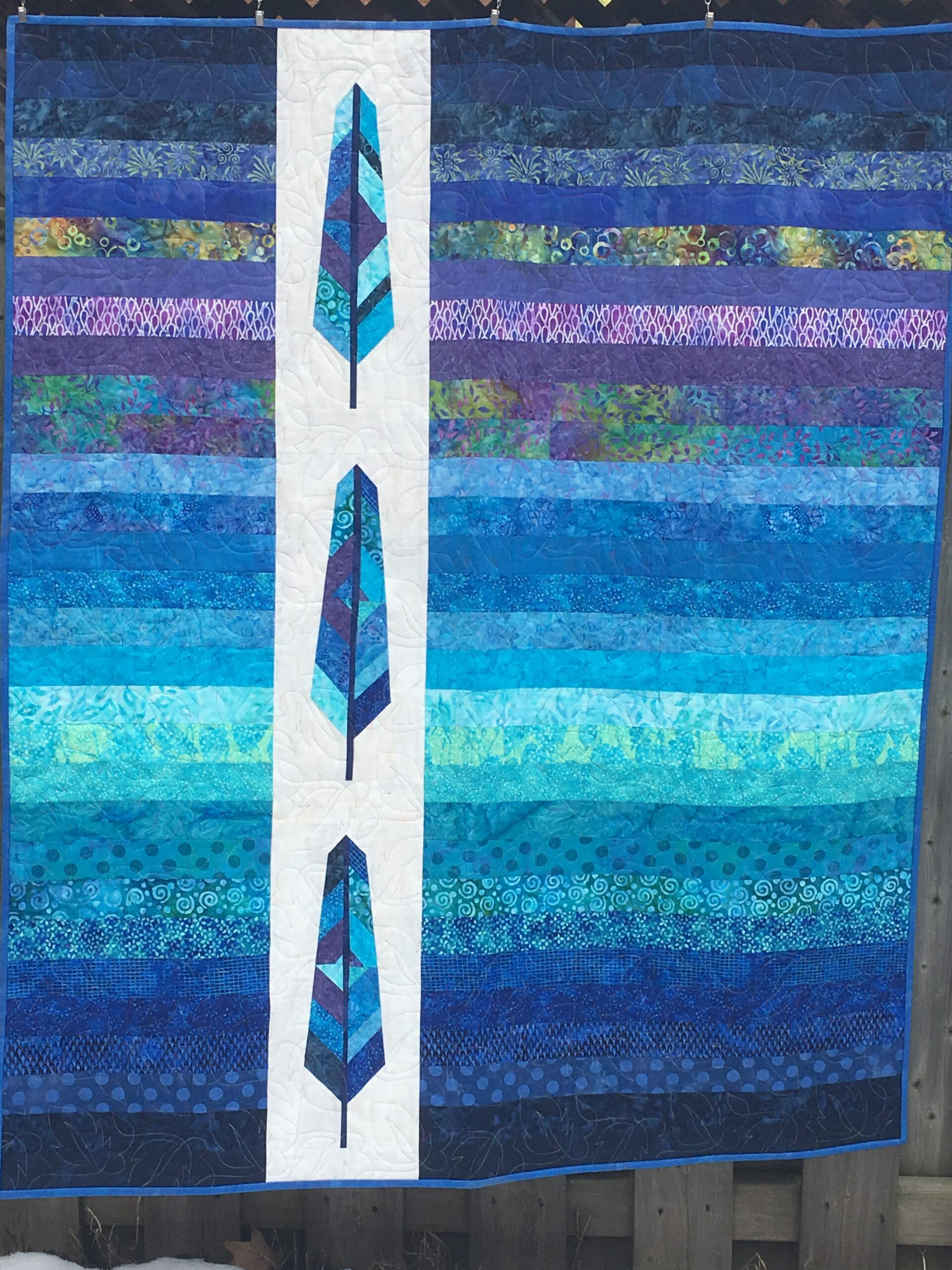 Tranquil Feathers Quilt