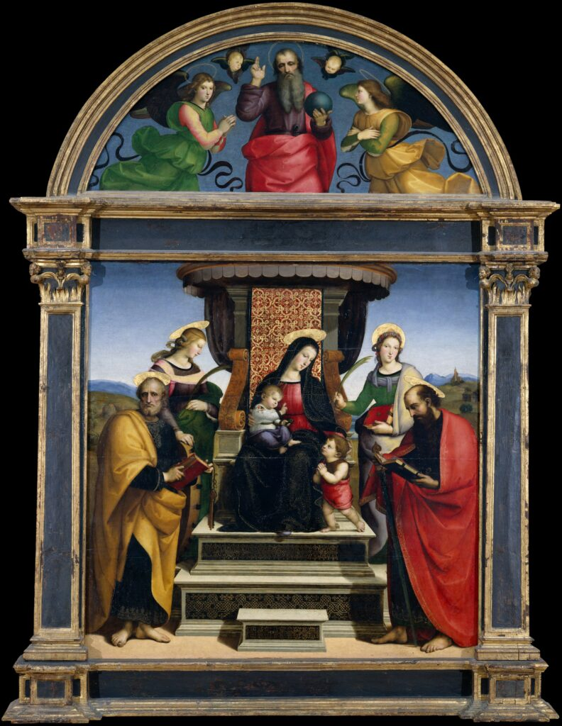Raphael's Madonna and Child Enthroned with Saints