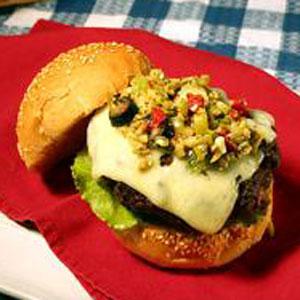 Becki's Olive Salsa Burger