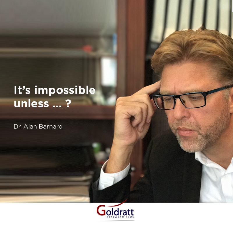 It's impossible unless...