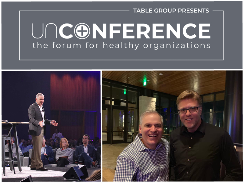 Dr. Alan Barnard and Patrick Lencioni at UnConference 2020 March 4-6