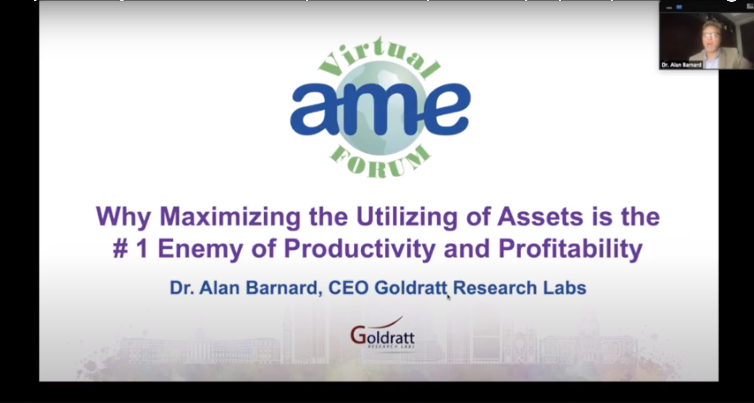 AME Virtual Forum on Productivity and Profitability