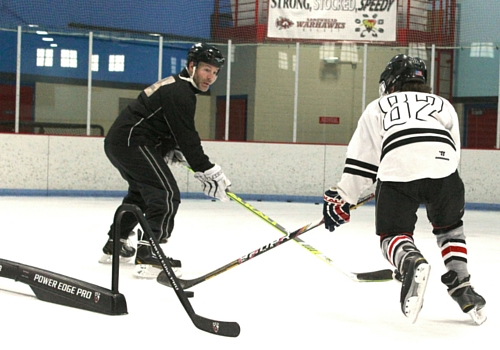 peter dale training ice hockey