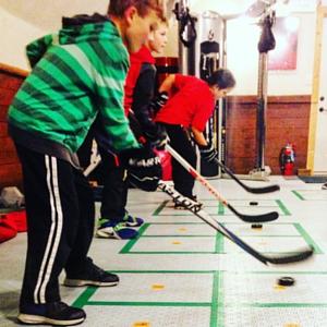 small group training at farm tough hockey